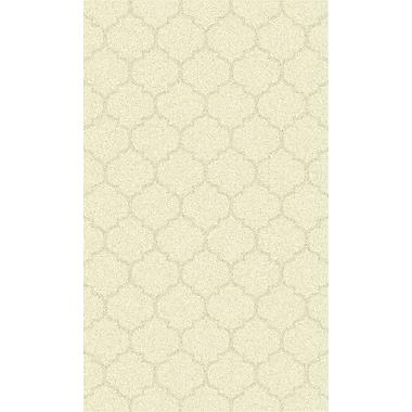 Bungalow Rose Avian Ivory Geometric Rug; 2' x 3'