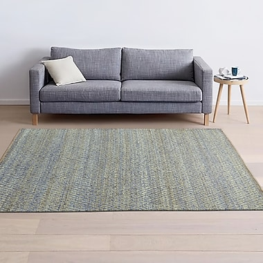 Bungalow Rose Azaria Hand-Woven Blue Area Rug; 5' x 8'
