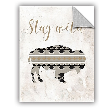 Bungalow Rose Barloy Stay Wild Wall Decal; 24'' H x 18'' W x 0.1'' D