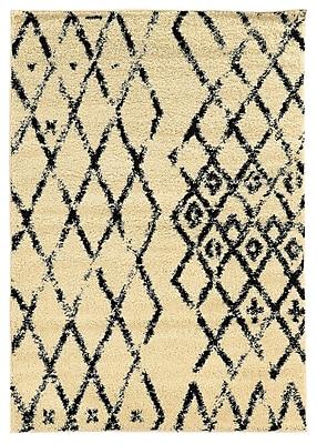 Bungalow Rose Brookstead Ivory/Black Area Rug; 8' x 10'