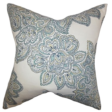 Bungalow Rose Broomfield Floral Floor Pillow; Sea Green