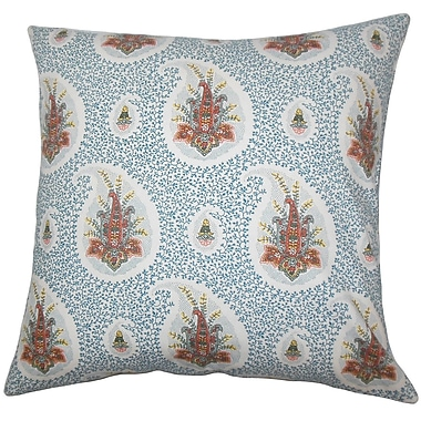 Bungalow Rose Bruckdale Floral Floor Pillow; Lapis