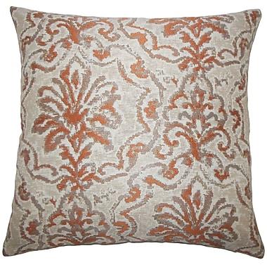 Bungalow Rose Burcott Damask Floor Pillow; Melon