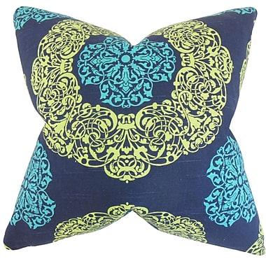 Bungalow Rose Caddington Geometric Floor Pillow; Turquoise