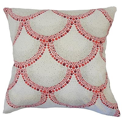 Bungalow Rose Teller Polka Dot Down Filled 100pct Cotton Throw Pillow; 20'' x 20''