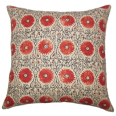 Bungalow Rose Castlethorpe Floral Floor Pillow; Spice