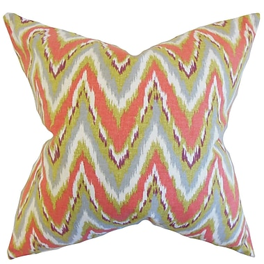 Bungalow Rose Caterina Zigzag Floor Pillow; Coral