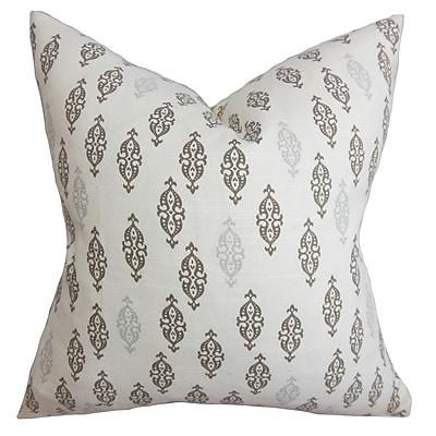 Bungalow Rose Cato Geometric Floor Pillow; Gray