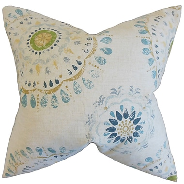 Bungalow Rose Catriona Geometric Floor Pillow; Rain