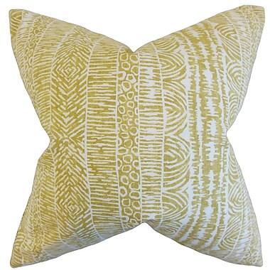 Bungalow Rose Cavalier Geometric Floor Pillow; Amber