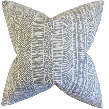 Bungalow Rose Cavalier Geometric Floor Pillow; Graystone