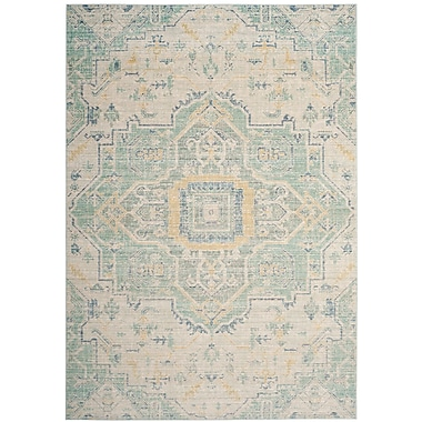 Bungalow Rose Chauncey Light Gray Area Rug; Square 6'