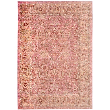 Bungalow Rose Chauncey Pink Area Rug; 3' x 12'
