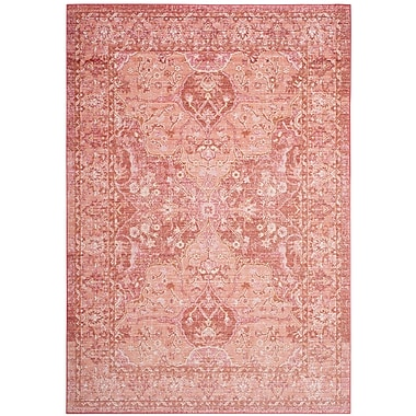 Bungalow Rose Chauncey Floral Pink Area Rug; 9' x 13'