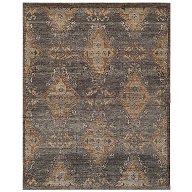 Bungalow Rose Kline Hand-Knotted Wool Charcoal Area Rug; 8' x 10'