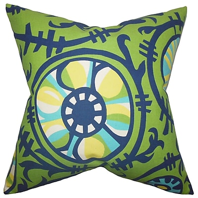 Bungalow Rose Brinsley Geometric Square Cotton Throw Pillow Cover