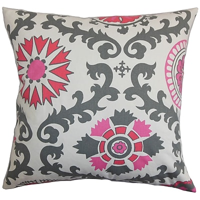 Bungalow Rose Brindalla Geometric Throw Pillow Cover; Gray Pink