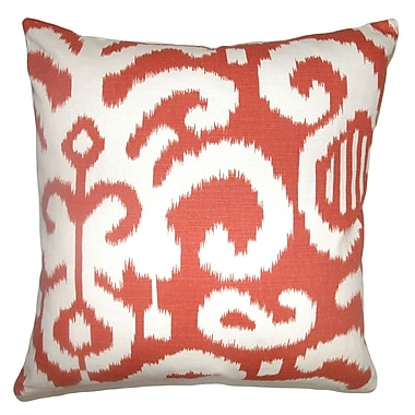Bungalow Rose Broadmeadow Ikat Floor Pillow; Flame