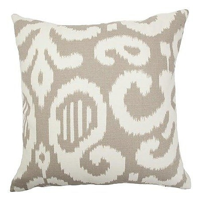 Bungalow Rose Broadmeadow Ikat Floor Pillow; Fog