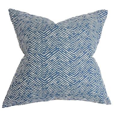 Bungalow Rose Broadmere Zigzag Floor Pillow; Blue