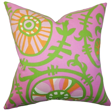 Bungalow Rose Brinsley Floral Floor Pillow; Pink