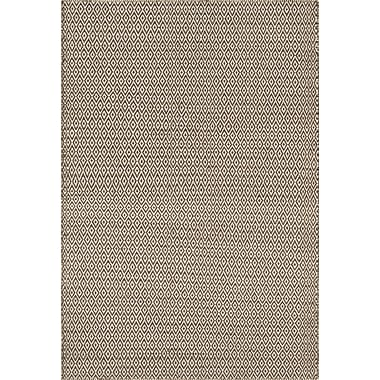 Bungalow Rose Brooklington Hand-Woven Wool Brown/Gray Area Rug; 5' x 7'6''