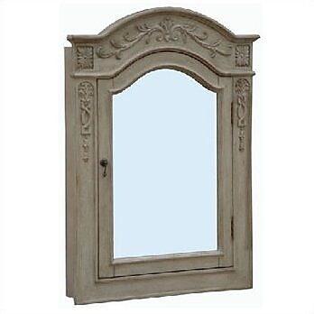 Empire Industries Lido Single Door Bathroom 30'' x 40'' Surface Mount Medicine Cabinet; Pearl White