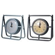 Gracie Oaks 2 Piece Mantle Tabletop Clock Set