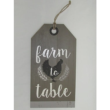 Gracie Oaks Farm To Table' Wood Decorative Tag