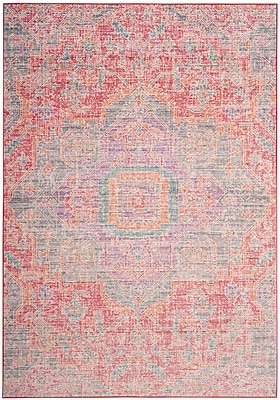Bungalow Rose Chauncey Pink Area Rug; 3' x 8'