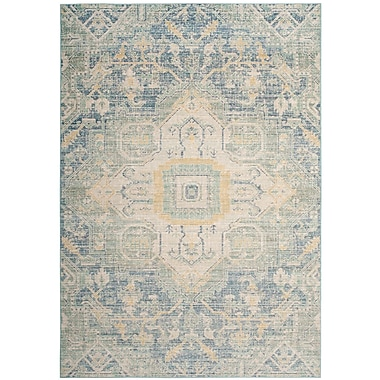 Bungalow Rose Chauncey Blue Area Rug; 3' x 8'