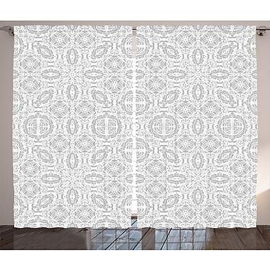 Bungalow Rose Polka Dot Room Darkening Rod Pocket Curtain Panels (Set of 2); 54'' x 90''