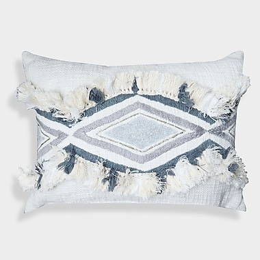 Bungalow Rose Clarens Geometric Moroccan 100pct Cotton Lumbar Pillow
