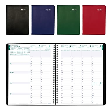 Blueline® 2017/2018 Academic Weekly Appointment Planner, 11 x 8-1/2, Trilingual, Assorted Cover Colours