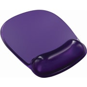Staples® Mouse Pad with Clear Gel Wrist Rest, Purple Crystal (18265-CA)