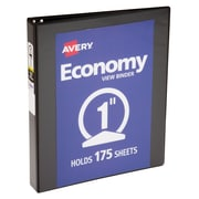 "Avery® 1"" Economy View Binder with Round Rings, Black (5710)"