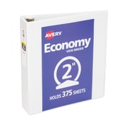 Avery Economy 2-Inch Round 3-Ring View Binder, White (5731)