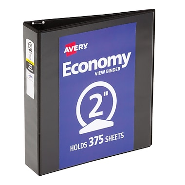 Avery Economy 2-Inch Round 3-Ring View Binder, Black (5730)