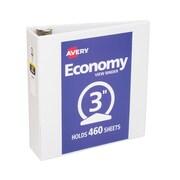 Avery Economy 3-Inch Round 3-Ring View Binder, White (5741)