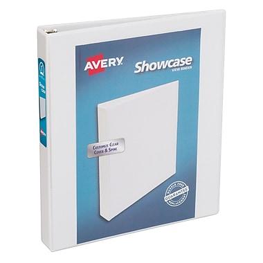 Avery Showcase 1-Inch Round 3-Ring View Binder, White (19601)