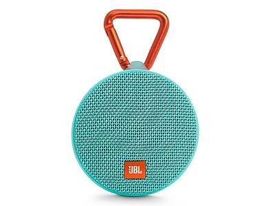JBL Clip 2 Bluetooth Speakers, Teal (JBLCLIP2TELAM)