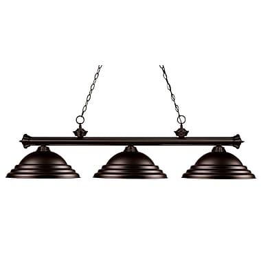 Red Barrel Studio Zephyr 3-Light Bell Shade Billiard Light w/ Hanging Chain