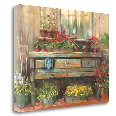 Tangletown Fine Art 'Gardners Table' Print on Canvas; 17'' H x 23'' W