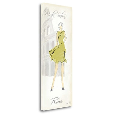Tangletown Fine Art 'Fashion Lady IV' Graphic Art Print on Wrapped Canvas; 32'' H x 13'' W