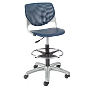 Latitude Run Panton Poly Adjustable Mid-Back Drafting Chair; Navy/Navy