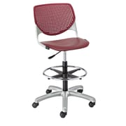 Latitude Run Panton Poly Adjustable Mid-Back Drafting Chair; Burgundy/Burgundy