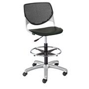 Latitude Run Panton Poly Adjustable Mid-Back Drafting Chair; Black/Black