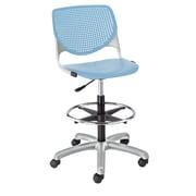 Latitude Run Panton Poly Adjustable Mid-Back Drafting Chair; Sky Blue/Sky Blue