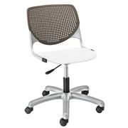 Latitude Run Panton Poly Task Mid-Back Drafting Chair; Brownstone/ White