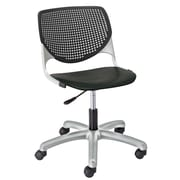 Latitude Run Panton Poly Task Mid-Back Drafting Chair; Black/Black